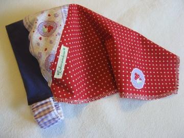 Kopftuch 'Fliegenpilz' - aus Baumwolle handgenäht -  für kleine Mädchen