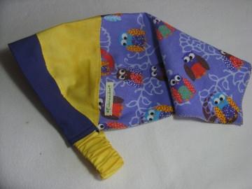 Kopftuch 'Bunte Eulen' - aus Baumwolle handgenäht -  für große Mädchen