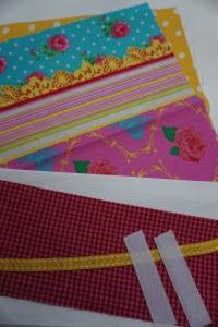 DIY - Material-Paket für Windeltasche 'Rosen' - Zuschnitte Baumwolle - Handarbeit kaufen