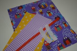 DIY - Material-Paket für Windeltasche 'Eulen' - Zuschnitte Baumwolle  - Handarbeit kaufen