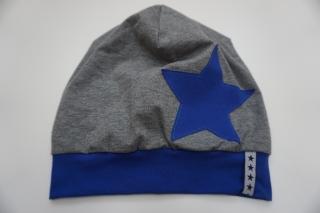 Beanie 'Big Star'- Gr. 3 - aus Baumwoll-Jersey - handgenähtes Einzelstück - Handarbeit kaufen