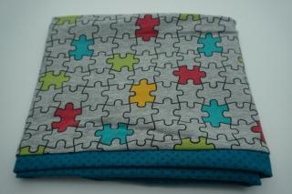 Jersey-Loop 'Puzzle' - Schlauchschal - handgemachtes Einzelstück - Handarbeit kaufen