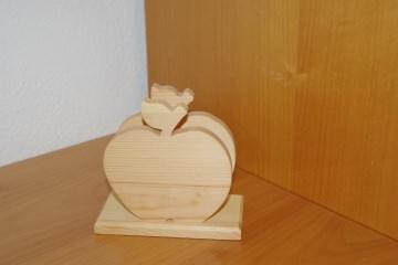 Serviettenständer Apfel aus Kiefernholz