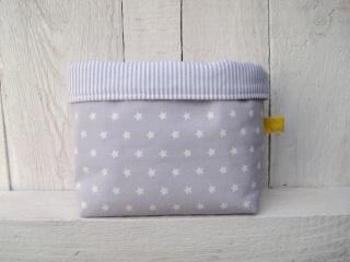 Utensilo klein Sternenhimmel grau-weiß Kinder- und Babyzimmer handgemacht