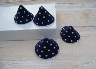 4er Set Wickelhütchen,Pipi-Tipi Sternenhimmel dunkelblau handgemacht
