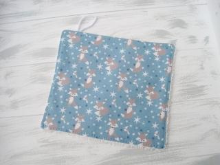 Baby Waschlappen Reineke Fuchs hellblau bunt handgemacht