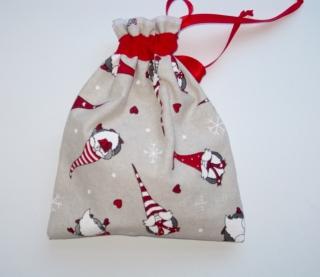 Nikolaus- und Geschenksäckchen zum Befüllen bunte Nikoläuse handgemacht