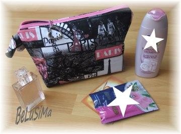 Kosmetiktasche ♥ I love Paris ♥ Handarbeit mit ♥ von Belusima, Geschenk zur Jugendweihe, Konfirmation