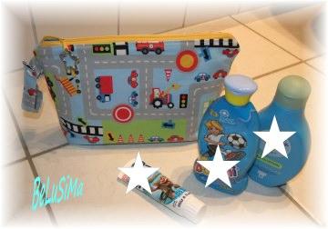 Kosmetiktasche, Waschtasche für coole Jungs, XXL, Handarbeit mit ♥ von Belusima