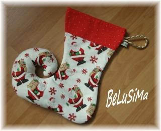★ Wichtelstrumpf ★ Elfenstrumpf ★ Nikolausstrumpf ★ Weihnachtsmann ★ zum Füllen ★ Handarbeit von Belusima
