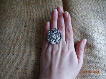 Ring aus Zeitungsgarn - Handarbeit kaufen