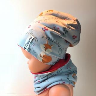 Set Beanie mit Loop, Beanie,  Loop,  Mütze, 47 - 50 cm, von Mausbär