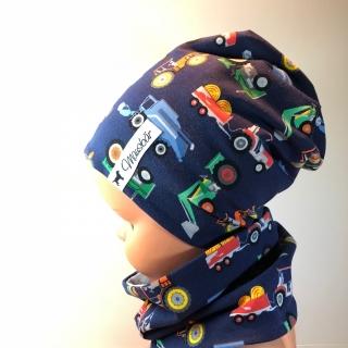 Set, Beanie mit Loop, Beanie,  Loop,  Mütze , 47 - 50 cm, von Mausbär