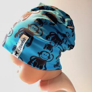 Kindermütze,  KU 47 - 50 cm, Beanie,  Mütze,  doppellagig, von Mausbär - Handarbeit kaufen