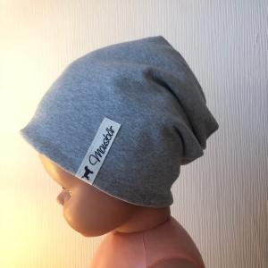Beanie,  KU 53 - 55 cm, Mütze,  Kindermütze,  doppellagig, von Mausbär - Handarbeit kaufen
