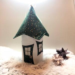 Lichthaus,  ca. 34 cm,  Wichtelhäuschen,  Weihnachtshaus,  Weihnachtslampe,   Weihnachtsdeko, Fensterdeko, von Mausbär - Handarbeit kaufen
