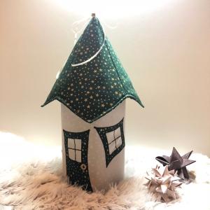 Lichthaus,  ca. 34 cm,  Wichtelhäuschen,  Weihnachtshaus,  Weihnachtslampe,   Weihnachtsdeko, Fensterdeko