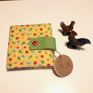 Minibuchhülle, Hülle, Mäppchen für kleine Bücher, von Mausbär - Handarbeit kaufen