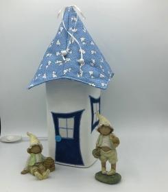 Nachtlicht, Kinderzimmerlampe, Tischleuchte, Kinderlampe , Häschen, hellblau, von Mausbär