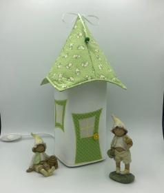 Nachtlicht, Kinderzimmerlampe, Tischleuchte, Kinderlampe , Häschen, hellgrün, von Mausbär