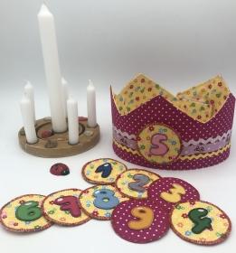 Geburtstagskrone, Krone für Mädchen und Jungen, pink, rosa, von Mausbär