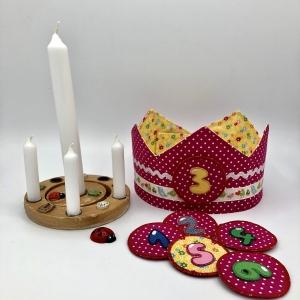 Geburtstagskrone, Krone für Mädchen und Jungen, pink, von Mausbär