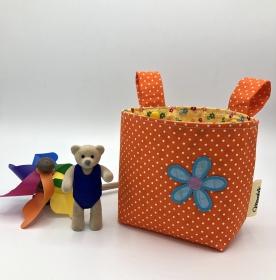 Kinder Lenkertasche für Puky, Laufrad, Roller, Dreirad , Kinderwagen, orange,  von Mausbär