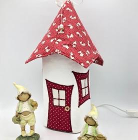 Nachtlicht, Kinderzimmerlampe, Tischleuchte, Kinderlampe , Häschen, rot, von Mausbär