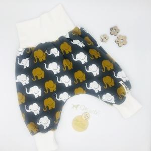 Pumphose, Mitwachshose,  Größe 56 -  62, Elefantenparade, für Jungen und Mädchen, von Mausbär - Handarbeit kaufen