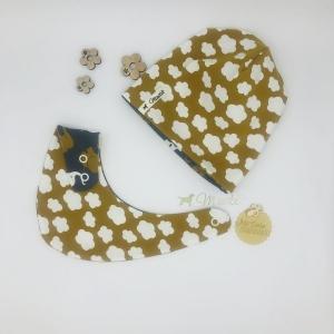 Zweiteiliges Baby Set , Halstuch + Mütze, mini Clouds, Größe 62 - 68 von Mausbär