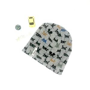 Mütze, Beanie , einlagig, Sommermütze, versteckte Rebellen, KU 47 - 50 cm, von Mausbär  - Handarbeit kaufen
