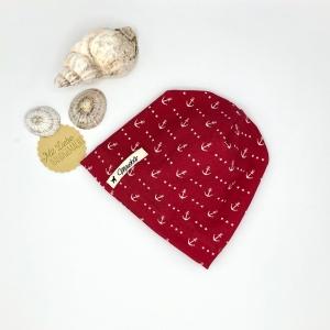 Mütze, KU 34 - 38, Beanie ,Neugeborenenmütze, einlagig, Sommermütze, Anker, von Mausbär  - Handarbeit kaufen