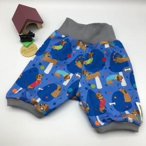 kurze Pumphose, Mitwachshose, Shorts,  Größe 68 - 74, Dacklie, von Mausbär - Handarbeit kaufen