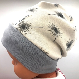 Mütze, KU 39 - 43 cm, Beanie, Alpenfleece, creme, von Mausbär - Handarbeit kaufen