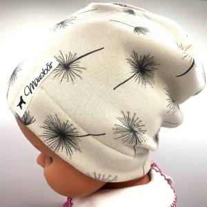 Mütze, Beanie, Alpenfleece, creme, KU 39 - 43 cm, von Mausbär - Handarbeit kaufen