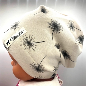Mütze, Beanie, Alpenfleece, creme, KU 53 - 55 cm, von Mausbär - Handarbeit kaufen