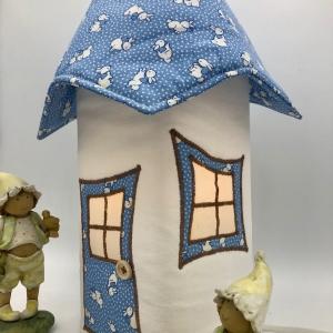 Nachtlicht, Kinderzimmerlampe, Tischleuchte, Kinderlampe , Lampe Häschen blau, inkl.Glasleuchte, von Mausbär