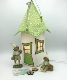 Nachtlicht, Kinderzimmerlampe, Tischleuchte, Kinderlampe , Lampe Häschen hellgrün, inkl.Glasleuchte, von Mausbär