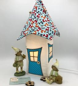 Nachtlicht, Kinderzimmerlampe, Tischleuchte, Kinderlampe , Lampe kleiner Fuchs, inkl.Glasleuchte, von Mausbär