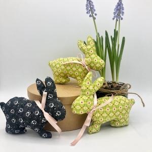 Osterhasen, Hasen, Ostergeschenk, 3er Set, Dekoration, Ostern, Frühjahr