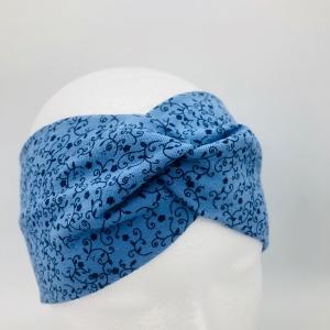 Stirnband, Haarband , Bandeau , Boho-Stirnband, KU 48 - 53cm, hellblau - Handarbeit kaufen
