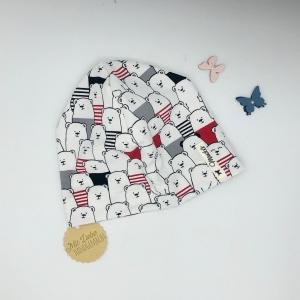 Mütze, Beanie , einlagig, Sommermütze, Bären , 39 - 43 cm, von Mausbär  - Handarbeit kaufen