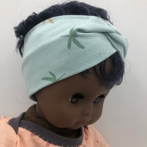 Puppenstirnband,Baby Born, Puppenhaarband,  30- 35 cm, mint mit Libellen - Handarbeit kaufen
