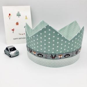 Geburtstagskrone, Krone, mint, für Mädchen und Jungen, größenverstellbar, von Mausbär