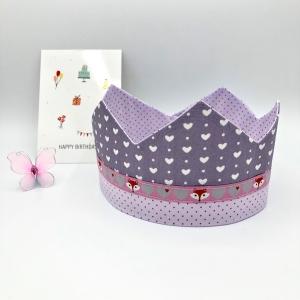 Geburtstagskrone, Krone, rosa, für Mädchen, größenverstellbar, von Mausbär
