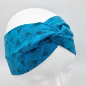 Stirnband, Haarband , Bandeau , Boho-Stirnband 48 - 53cm, türkis
