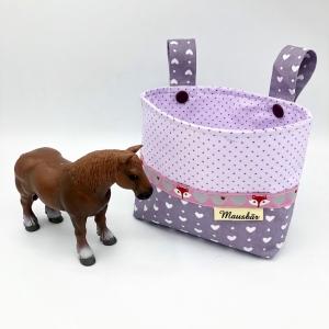Kinder Lenkertasche für Puky, Laufrad, Roller, Dreirad , Kinderwagen, altrosa, von Mausbär