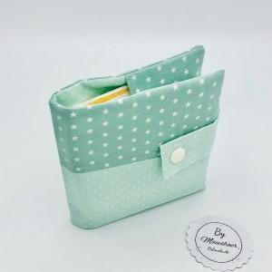 Minibuchhülle, Tasche, Mäppchen für kleine Bücher, von Mausbär - Handarbeit kaufen