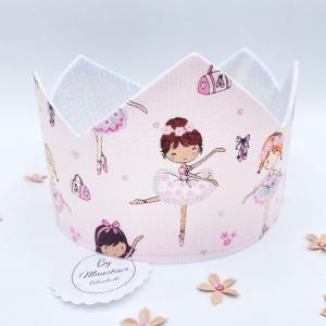 Geburtstagskrone, kleine Ballerina, Krone für Mädchen, von Mausbär - Handarbeit kaufen