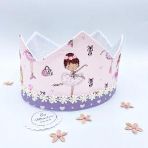 Geburtstagskrone, rosa, kleine Ballerina, Krone für Mädchen, von Mausbär